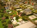 visão de cima de várias casas