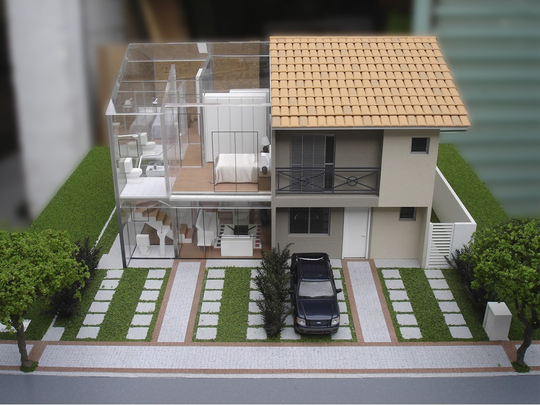 por cima da casa