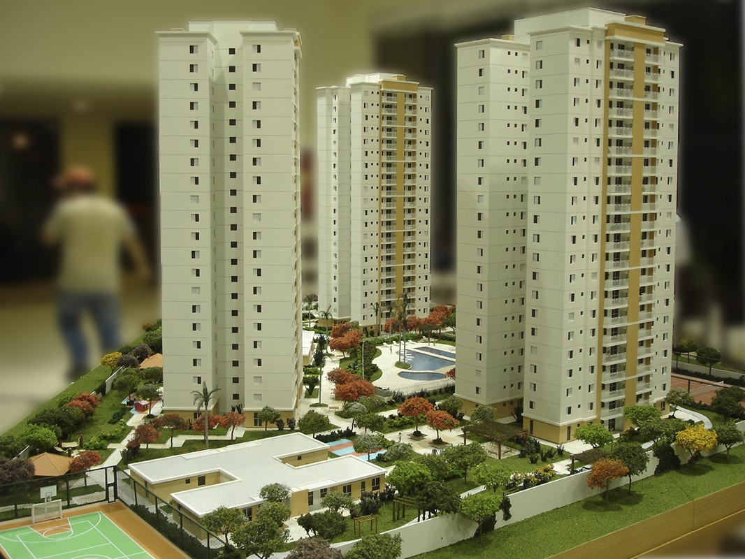 visão ampla dos tres prédios